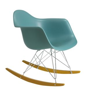 """Charles and Ray Eames - RAR chair.  RAR stands for """"Rocking Armchair Rod Base"""", this is in fact a variation of the famous DSR chair with the addition of runners / 1950"""