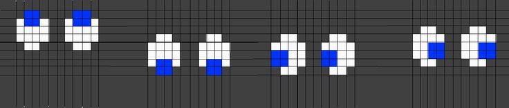 Ghost Eyes Pattern Grid Pac Man Eye Pattern Diagram