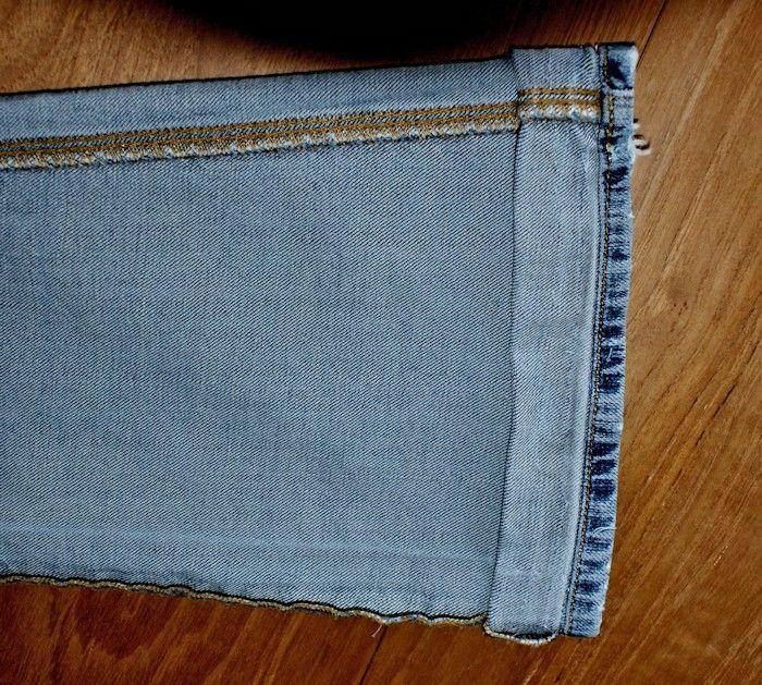 Plus de 25 id es uniques dans la cat gorie ourlet jean sur pinterest hemming jeans diy jeans - Comment faire un ourlet de jean ...