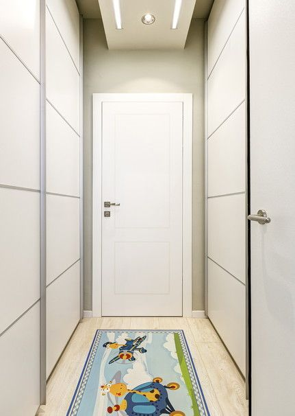 Take advantage of the space in the hallway by putting in tall closets with slidedoors to create more storage space