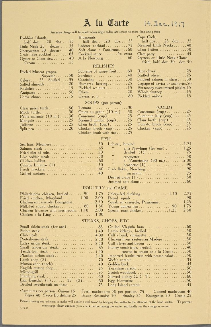98 Best Images About Vintage Menus On Pinterest