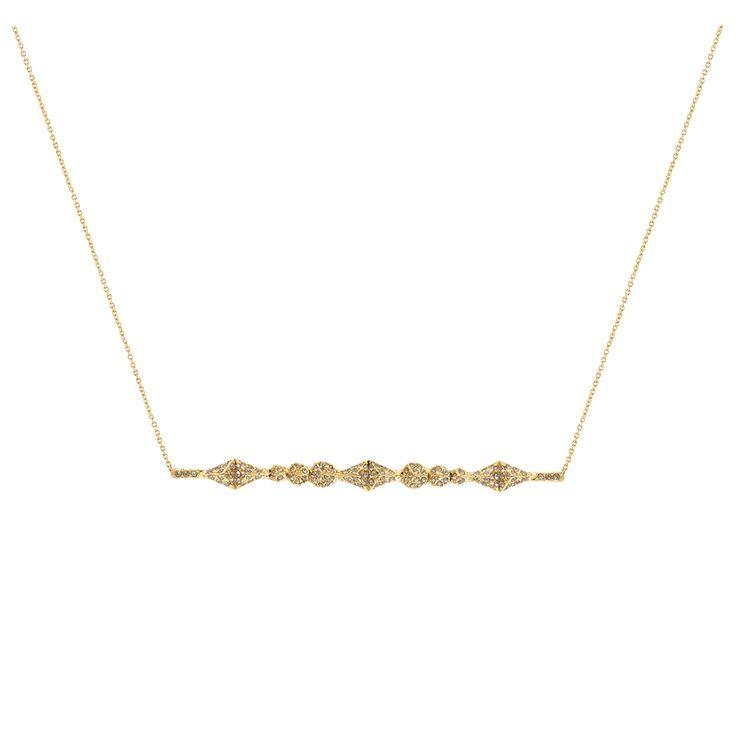 Sama Horizontal Pendant Necklace - Gold