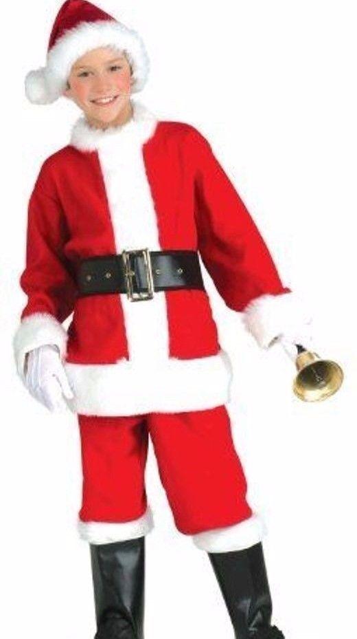 52cb9493c7a Kids Santa Claus Suit Costume Boys Child Girls Christmas - S 4-6 M 8-10  L12-14  boyscostumes  costumesforboys  kidscostumes