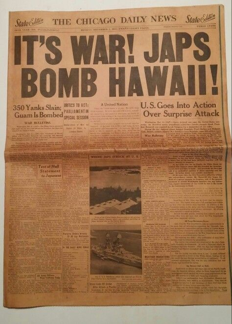 Pearl Harbor attacked                                                       …