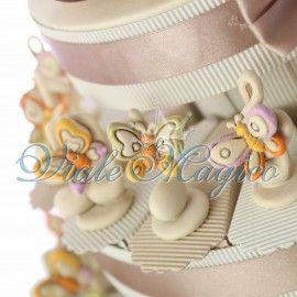 Torta Confetti con Statuina Note Musicali e Farfalle