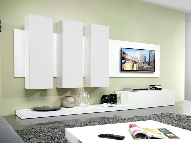 Wohnwand weiß hochglanz hängend  Die besten 25+ Tv wand hochglanz weiß Ideen auf Pinterest | Tv ...