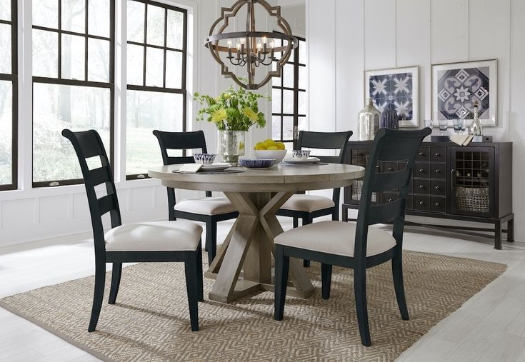 2021 Dining Room with Round Table - Indigo Chairs in 2020 ...