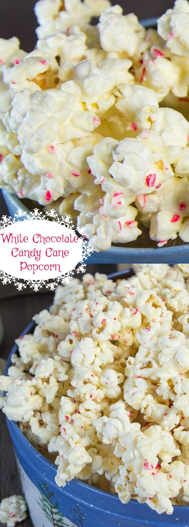 White Chocolate Candy Cane Popcorn is amazing!! Makes a great homemade gift.
