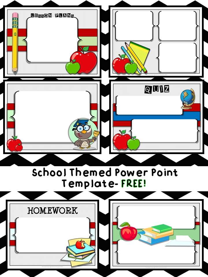 FREE School Themed Power Point Template. Just add your own text and GO! SO cute!