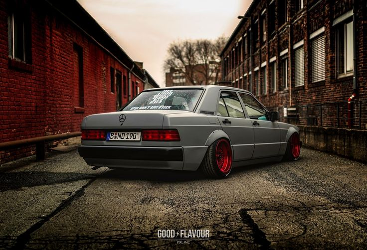 #Mercedes_Benz 190e #W201 #Slammed #Modified #Bagged #Stance