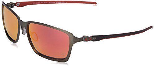 Oakley Ferrari Tincan Carbon Iridium Sunglasses, Carbon, 58 Mm , Oo6017-07