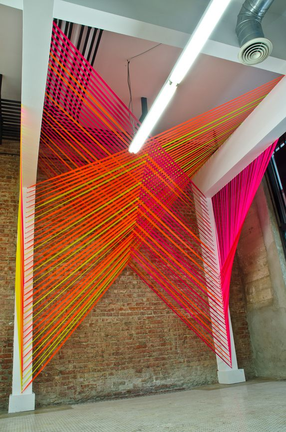 More geometric string installations by Megan Geckler.  Lobby