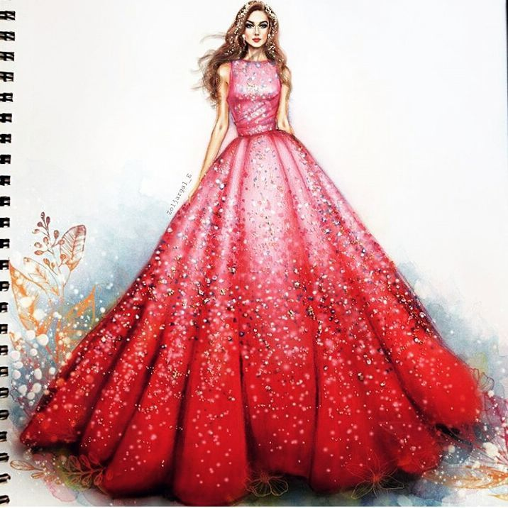 "632 Likes, 3 Comments - Fashion Art and Sketches (@best.fashion.art) on Instagram: ""Regram @artclaytion . . . . . . #fashionillustrations #aquarelle #aquarellepainting #draws…"""