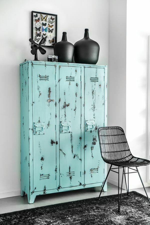 Good metallschrank retro design wohnzimmer