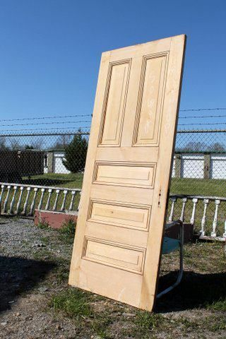 Stripped cypress doors from St. Louis sturdy and beautiful. Dimensions: 34\