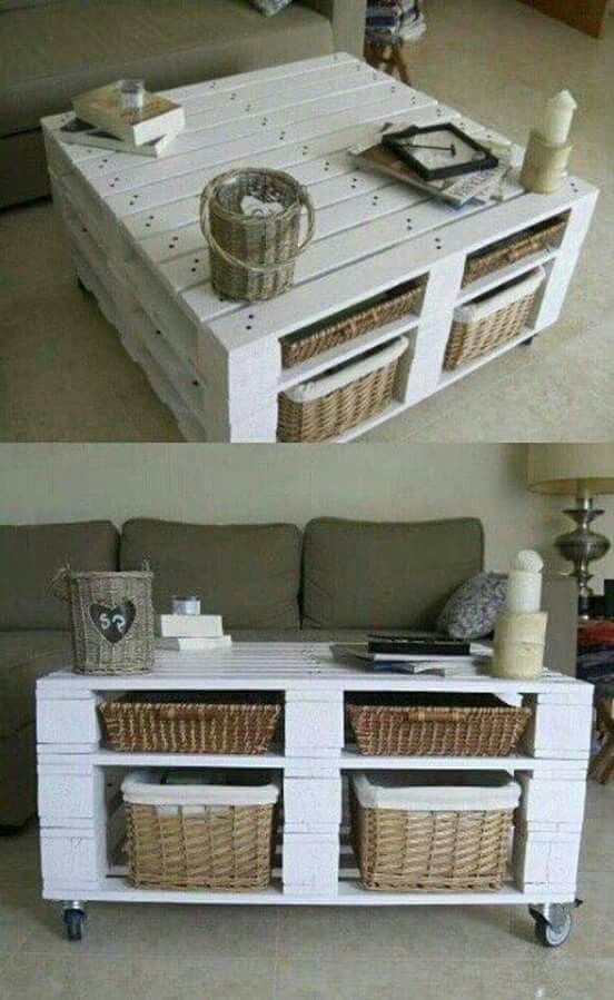 Coffee table made from pallets                                                                                                                                                                                 More
