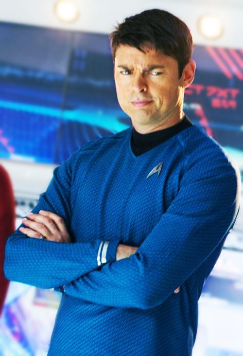 Karl Urban as Bones. I personally think that this is one of the best recasts they made for the new movies.