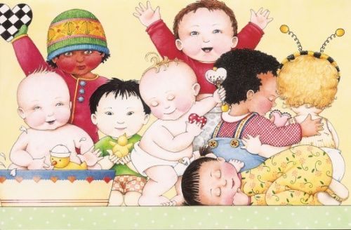 """""""Lovey Dovey Baby"""" book, by Mary Englebreit. A sentimental one, having read it to and with my little boy from babyhood onwards..."""