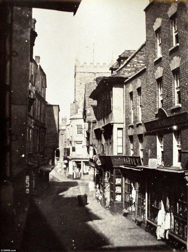 St Mary-Le-Port Street in Bristol. The albumen prints were made in the 1870s from the orig...