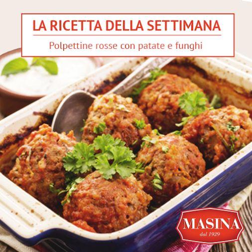 Masina dal 1929 | La ricetta della settimana | Polpettine rosse con patate e funghi #ricette #polpette #carne #equina #funghi #patate #masina