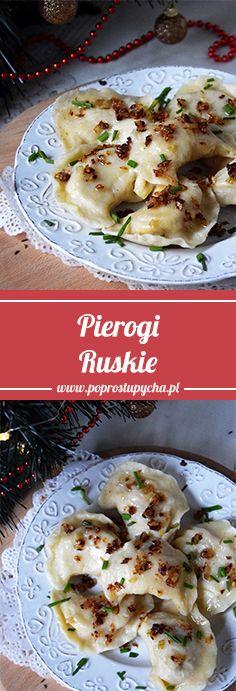 Pierogi ruskie – najlepszy przepis! Chyba nie znam Polaka, który by powiedział, że nie lubi pierogów :) To tak jak z kremówkami z kultowego Shreka <3 Wiem, że na wielu Świątecznych stołach pojawią się pyszne pierożki ruskie więc podsyłam Wam przepis :) #poprostupycha #przepis #swieta #pierogi #obiad