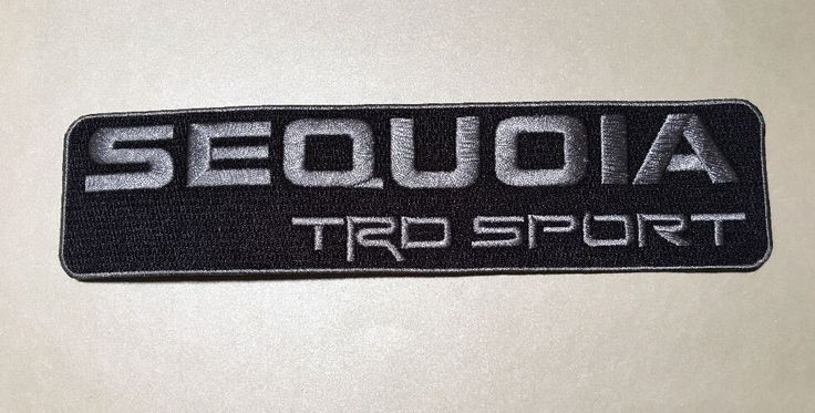 Sequoia Sport Toyota Racing Development TRD High-Quality Patch 2 X 8.25