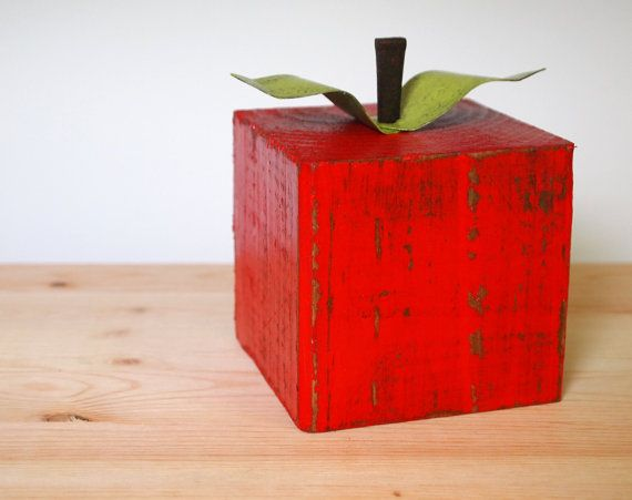 Red apple made from a 4x4 block