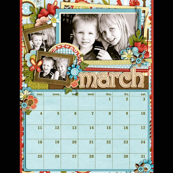 March calendar page sweet shoppe gallery