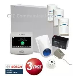 "Bosch Solution 3000 Alarm System with 3 x Gen 2 PIR Detectors+ 4"" Touch Screen…"