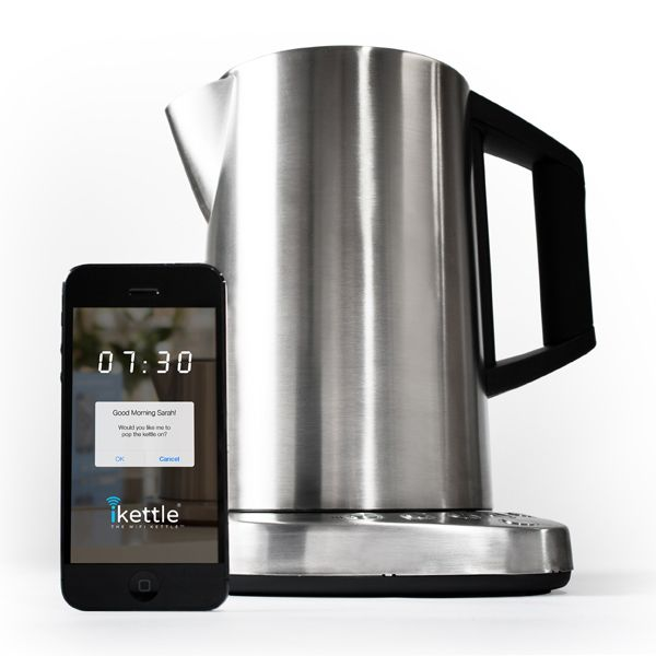 The worlds first wifi kettle. Now you can boil water for the perfect cup of tea from anywhere in the house. Saving you over two days a year in waiting time!