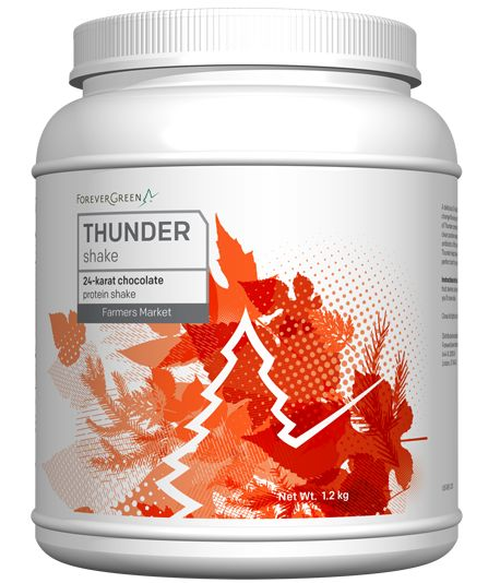 A delicious 24-Karat Chocolate meal replacement shake, Thunder™ will change the way you think about protein powder!   The unique power of Thunder comes from cold-processed New Zealand whey from clean pasture-raised cows not treated with bGH, rbGH, bST, bST hormones or second-hand antibiotics. Its specially-formulated blend features a broad spectrum of vitamins, minerals, and an enzyme blend that uses fats from krill oil to help the body absorb every nutrient.