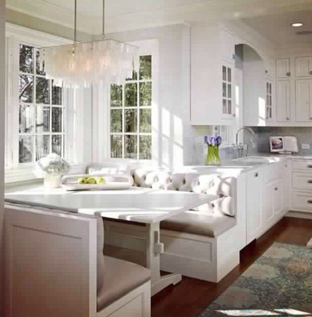 Booth seating kitchen kravings pinterest booth seating and house - Booth seating kitchen ...