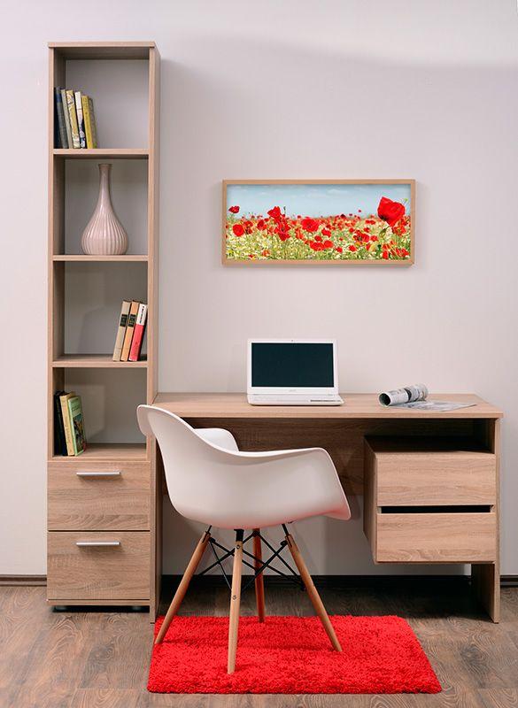 I1180 világos sonoma tölgy íróasztal.
