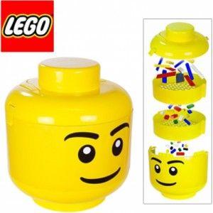 Ik vond dit op Beslist.nl: Lego Opberg en sorteerhoofd