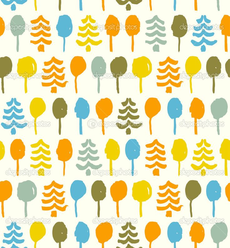 Descargar - Patrón decorativo brillante con árboles. doodle transparente textura. tapiz. plantilla para el diseño de estampados, ropa, fondos de pantalla, fondos de página web — Ilustración de stock #26306741