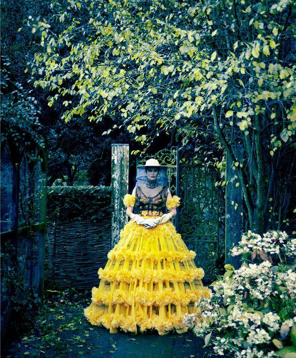 Alexander McQueen Dress and Headpiece - Profile of Alexander McQueen's Sarah Burton - Harper's BAZAAR