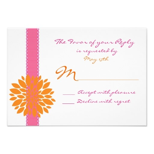 17 Best Images About Hot Pink And Orange Wedding Invitations On Pinterest