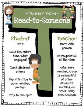 Daily 5 Read To Someone Poster FREE