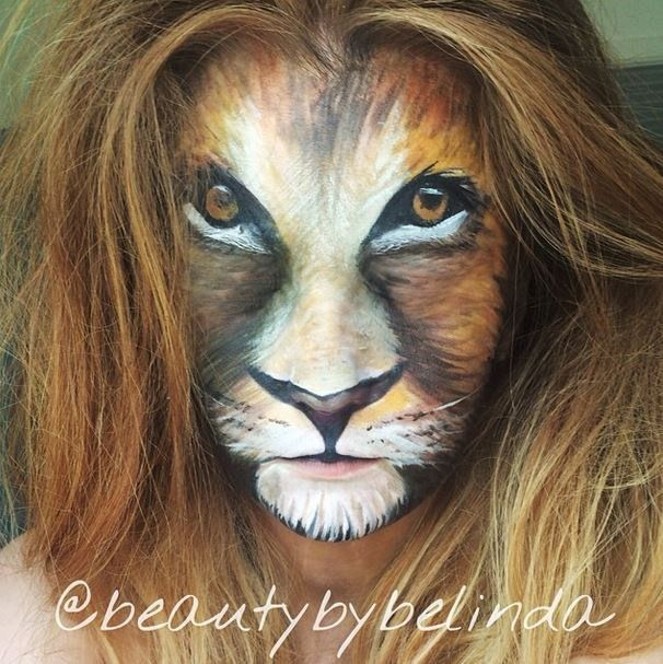 how to make a lion face with makeup