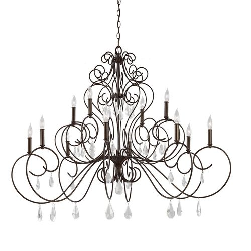 mf304312bnb angelette large foyer chandelier chandelier bonnieaux bronze at - Foyer Chandeliers