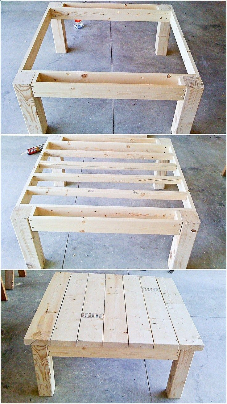 Table from pallet wood