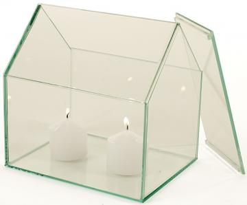 Farmhouse Terrarium - Glass Terrarium - Glass Candle Holder | HomeDecorators.com