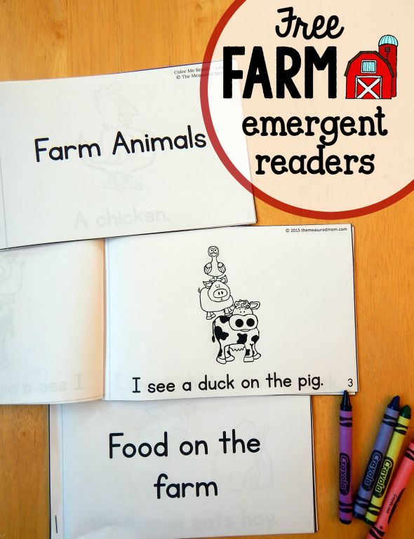 These farm emergent readers are perfect to use with a preschool farm theme!