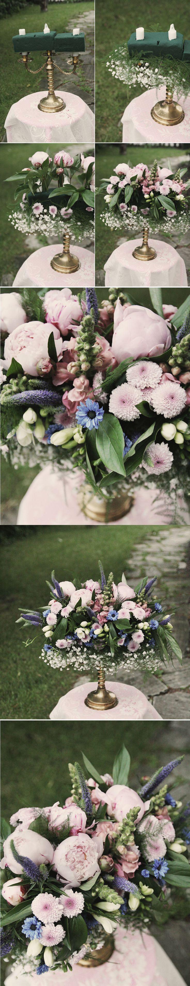 Underbart blomsterarrangemang att göra själv!