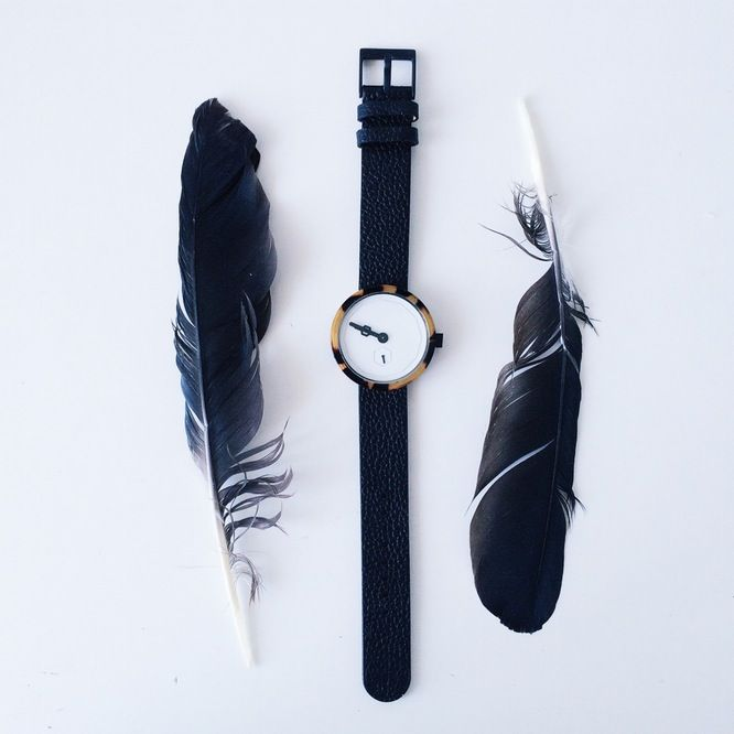 Simple black watch.