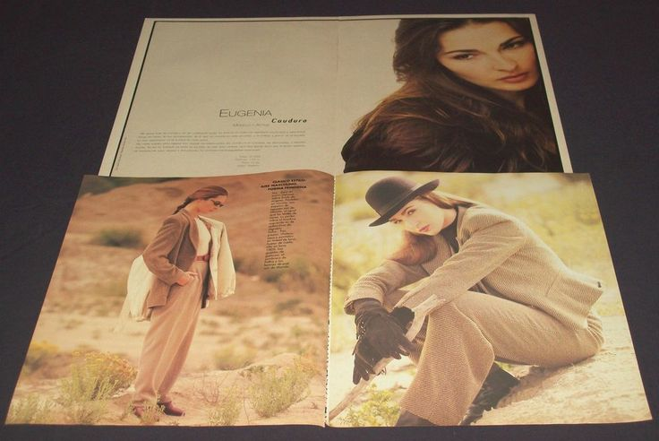 Eugenia Cauduro Lot Of Rare Pinups Magazine Clippings Collection