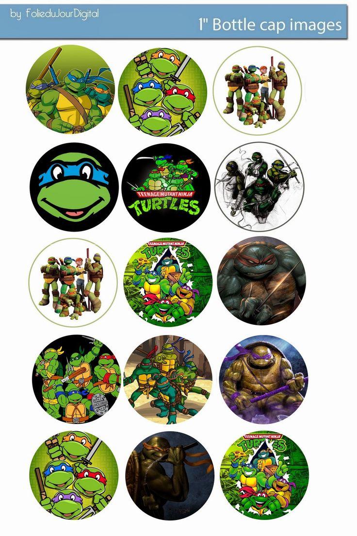 """Folie du Jour Bottle Cap Images: Tenage Mutant Ninja turtles free digital bottle cap images 1"""""""