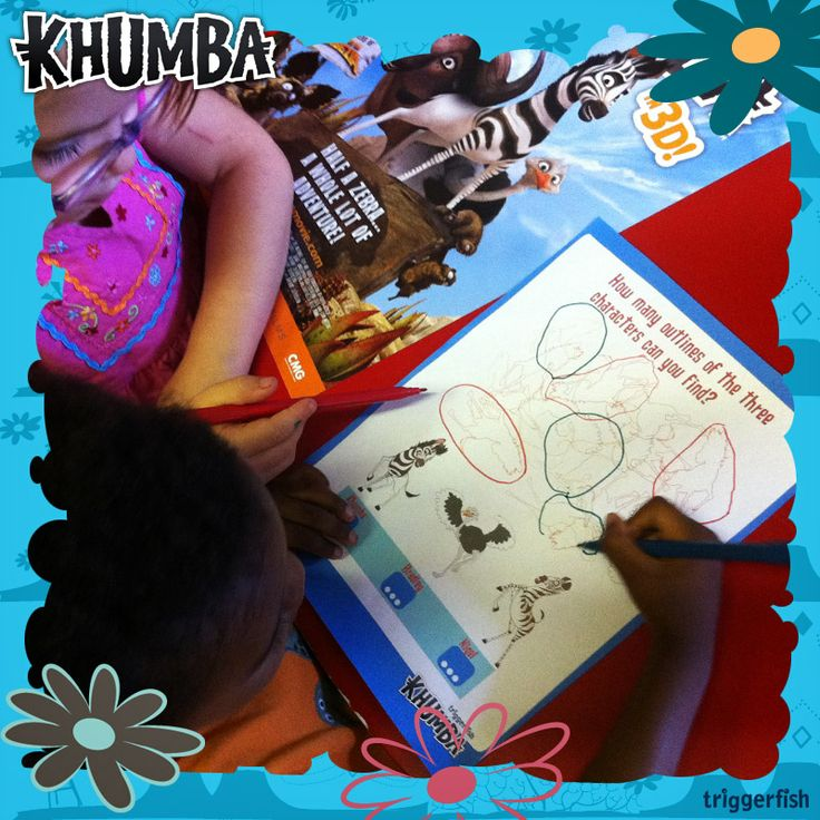 1 2 3…Count with Khumba! Parents there is plenty of fun learning going on in the KIDZONE. Visit the website and download all the activities for you little ones. KIDZONE:   www.khumbamovie.com  Learn the... A-Z with Khumba too. Now for smatphones and tablets!!