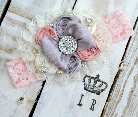 Shabby Chic Headbands by London Raquel - Sterling Rose
