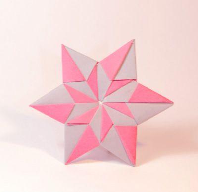 Origamipage - Mix von Sternen